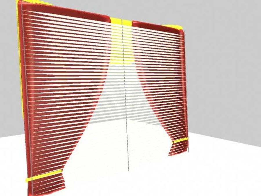 Beautiful Curtain royalty-free 3d model - Preview no. 7
