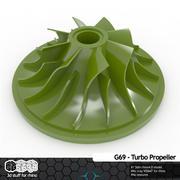 Śmigło G69-TURBO (ponownie opublikowane) 3d model