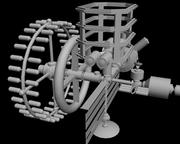 Sci-fi rymdstation 3d model