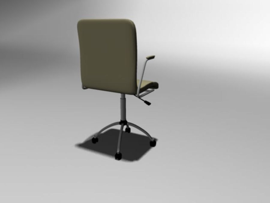 Swivel Chair royalty-free 3d model - Preview no. 2