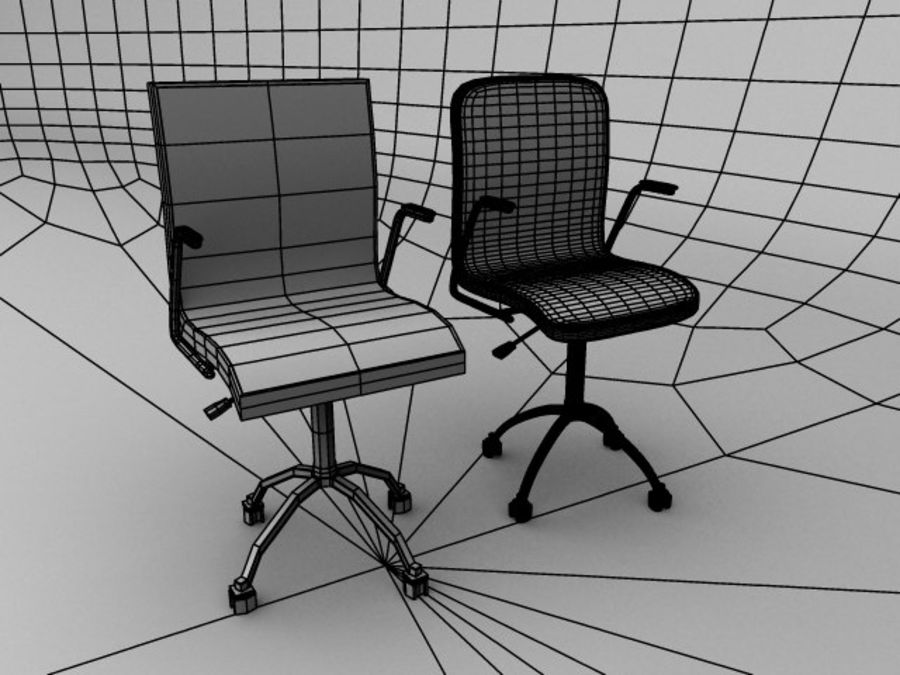 Swivel Chair royalty-free 3d model - Preview no. 7