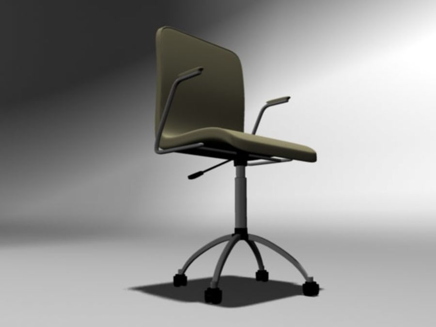 Swivel Chair royalty-free 3d model - Preview no. 3