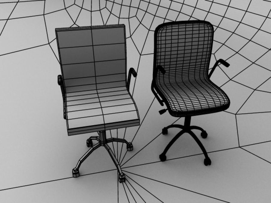 Swivel Chair royalty-free 3d model - Preview no. 8