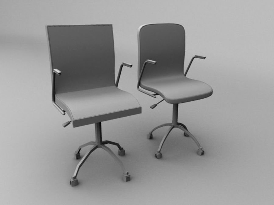 Swivel Chair royalty-free 3d model - Preview no. 6