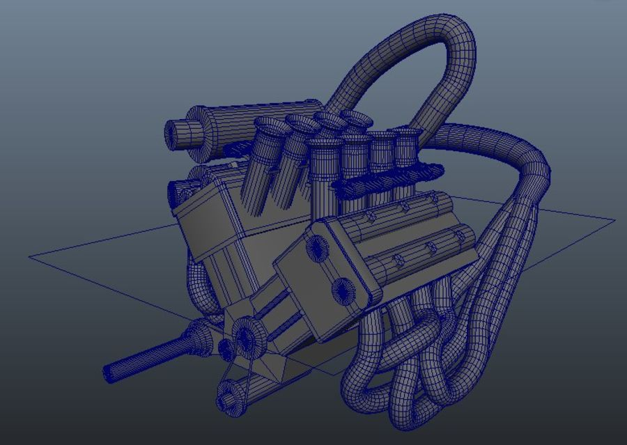 Silnik Ariel Atom V12 royalty-free 3d model - Preview no. 6