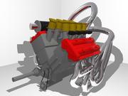 Ariel Atom V12 Двигатель 3d model