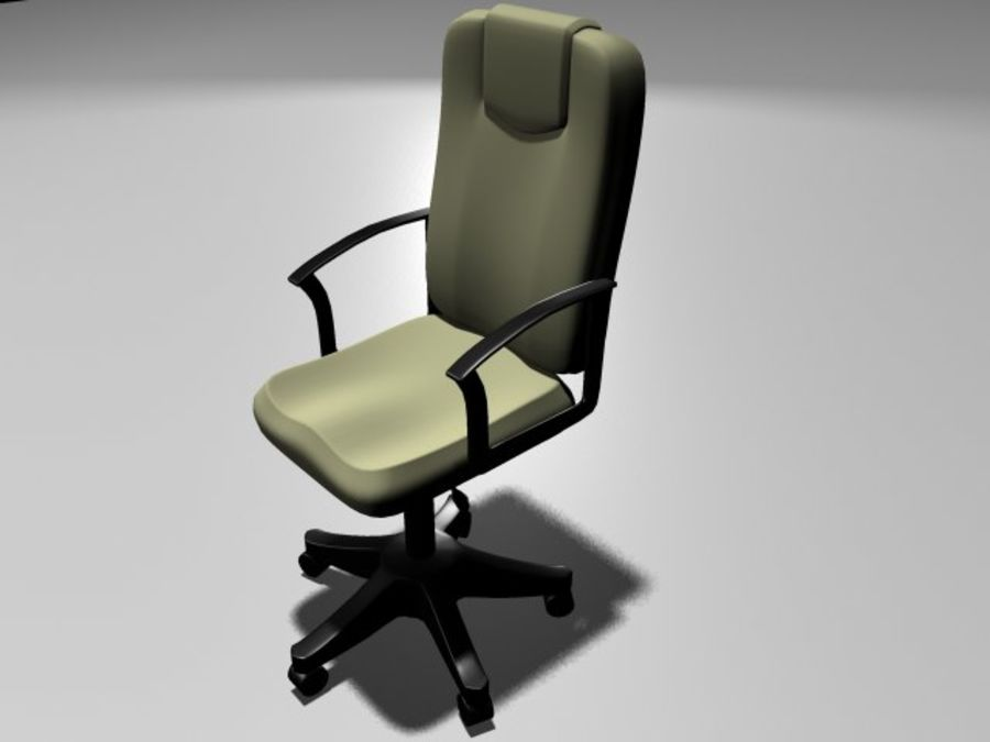 Computer Chair royalty-free 3d model - Preview no. 4