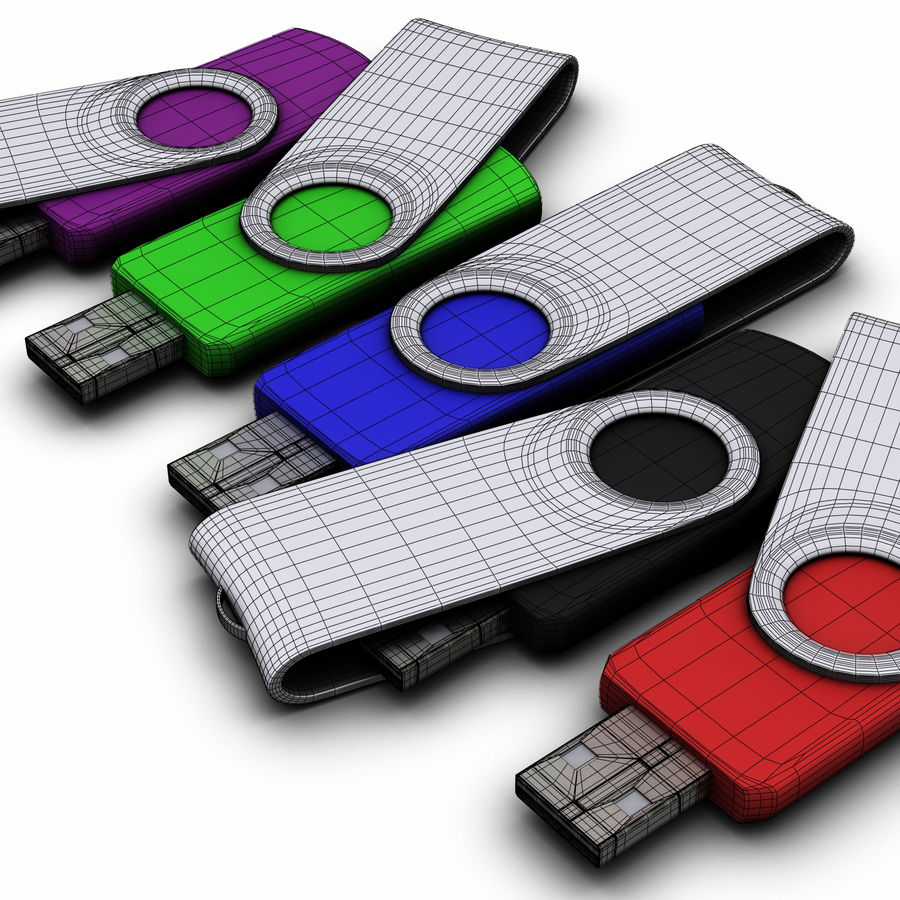 USB Flash Drive royalty-free 3d model - Preview no. 2