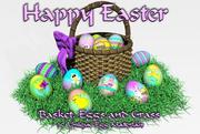 DC Easter Basket,Eggsandgrass 3d model