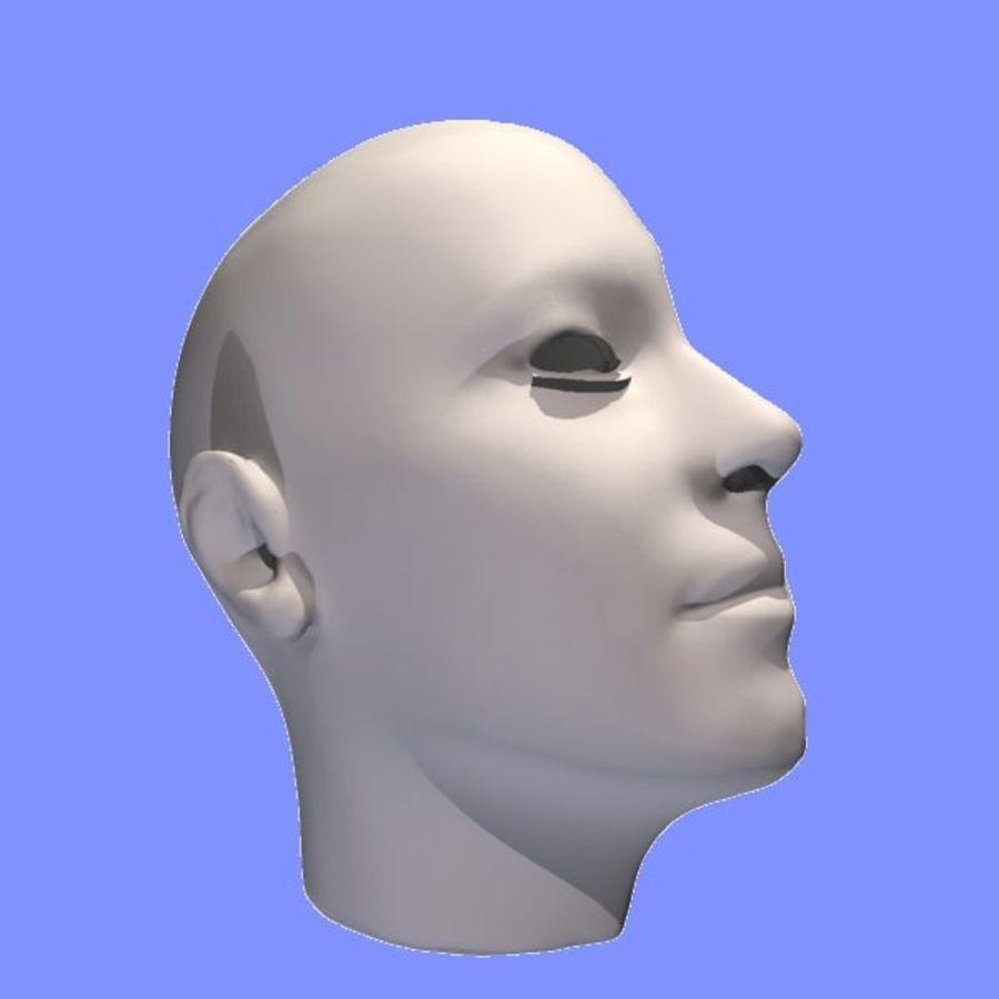 İnsan kafa yanal dilim royalty-free 3d model - Preview no. 9