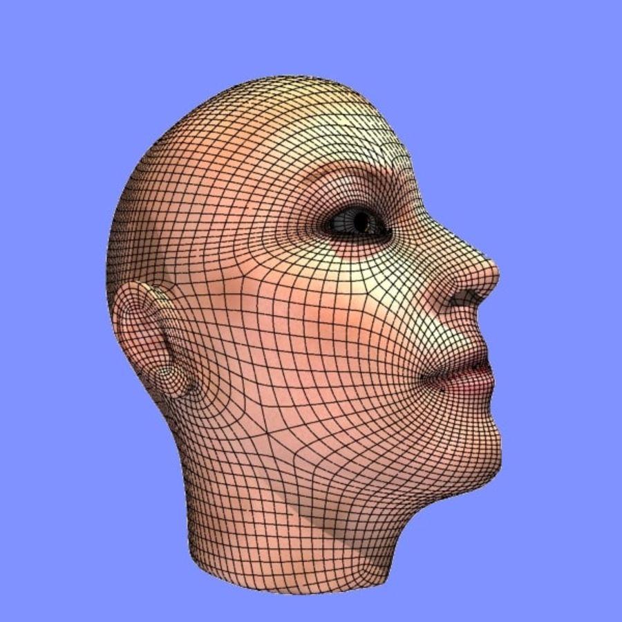 İnsan kafa yanal dilim royalty-free 3d model - Preview no. 10