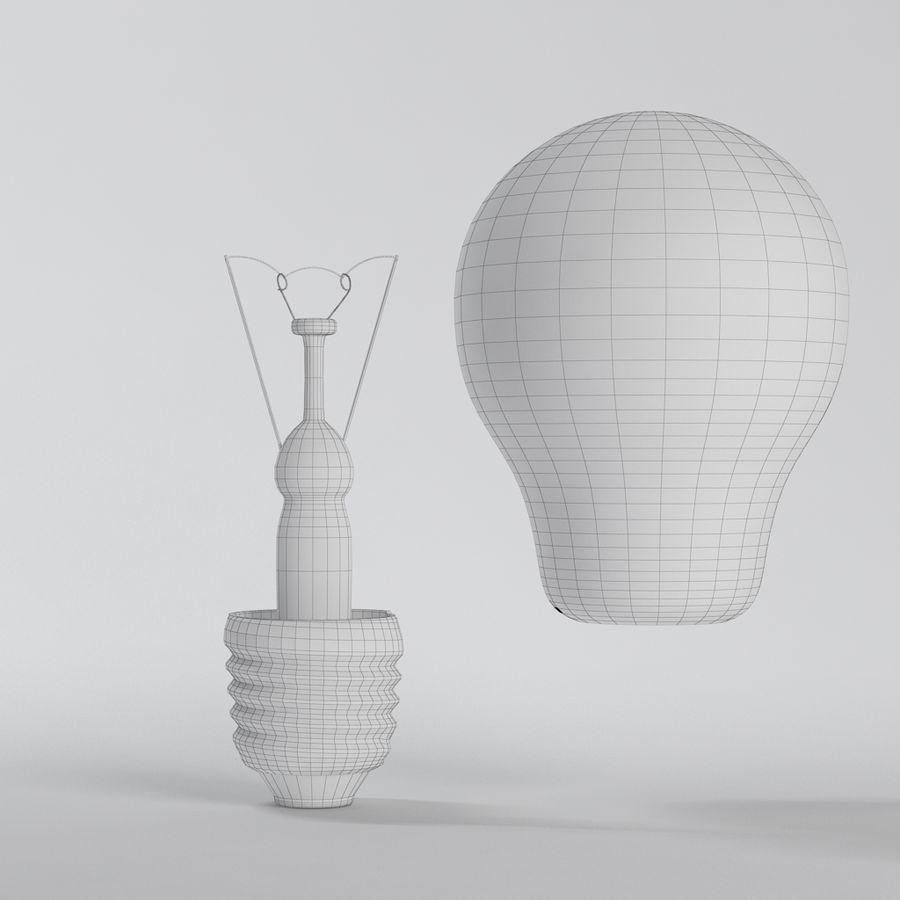 Lightbulb royalty-free 3d model - Preview no. 10
