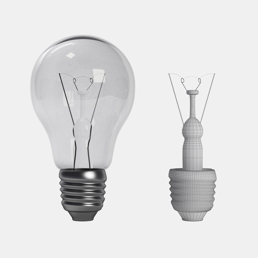 Lightbulb royalty-free 3d model - Preview no. 7