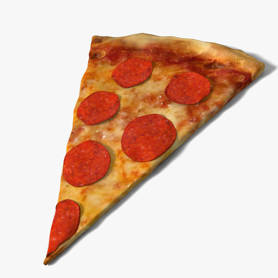 Pepperoni-Pizza-Scheibe royalty-free 3d model - Preview no. 1
