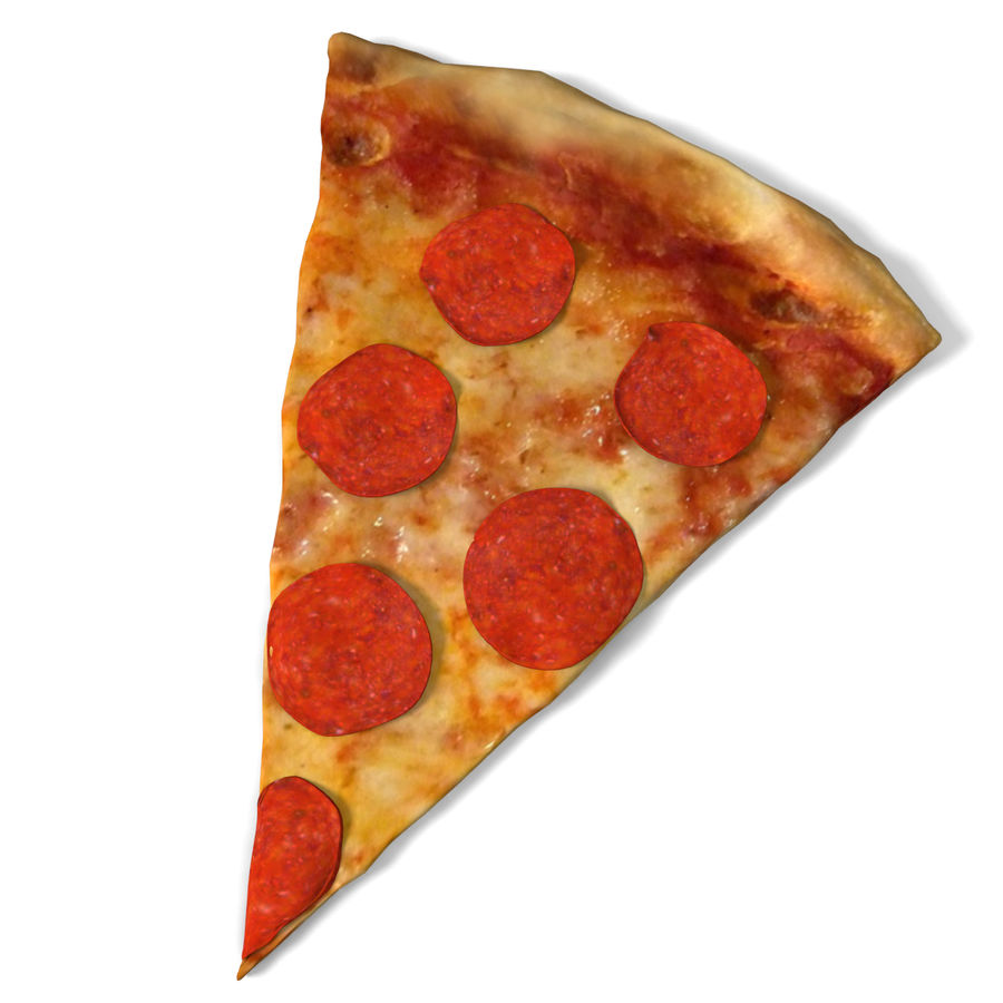 Pepperoni-Pizza-Scheibe royalty-free 3d model - Preview no. 2
