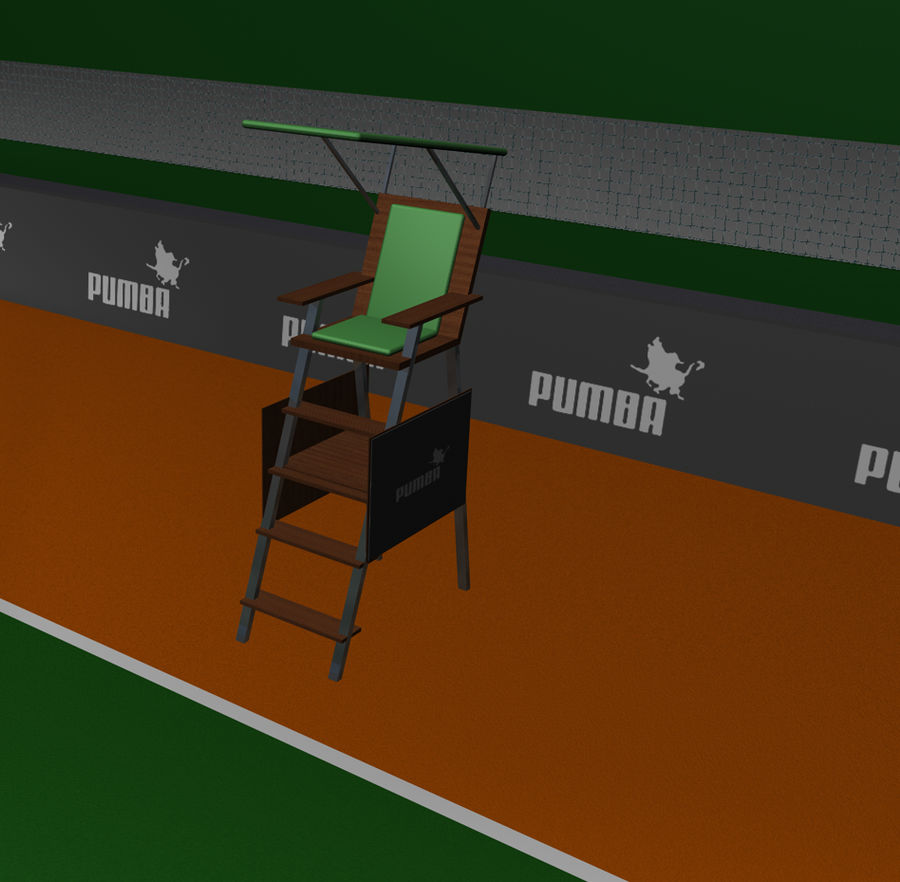 Tennis Court royalty-free 3d model - Preview no. 6