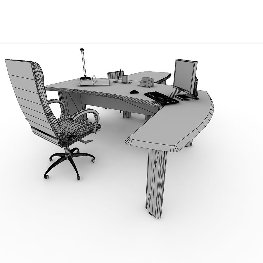Muebles de oficina royalty-free modelo 3d - Preview no. 9