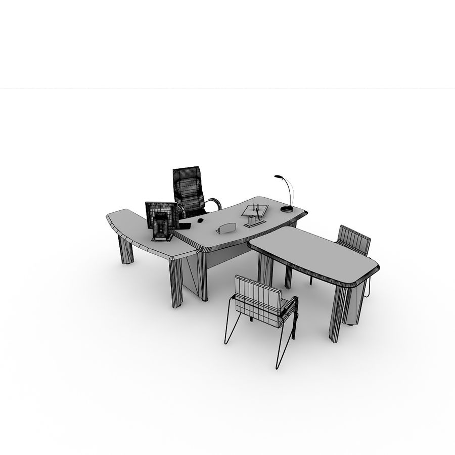 Muebles de oficina royalty-free modelo 3d - Preview no. 7