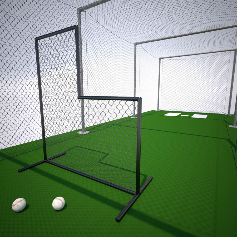 Batting Cage royalty-free 3d model - Preview no. 3