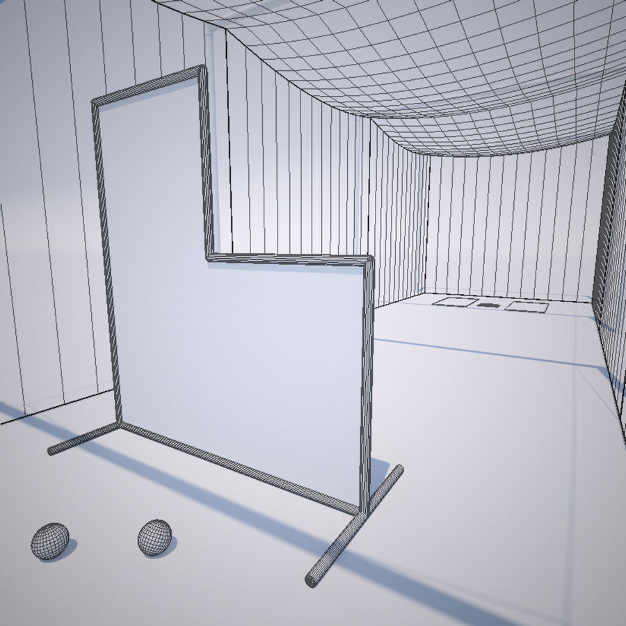 Batting Cage royalty-free 3d model - Preview no. 4