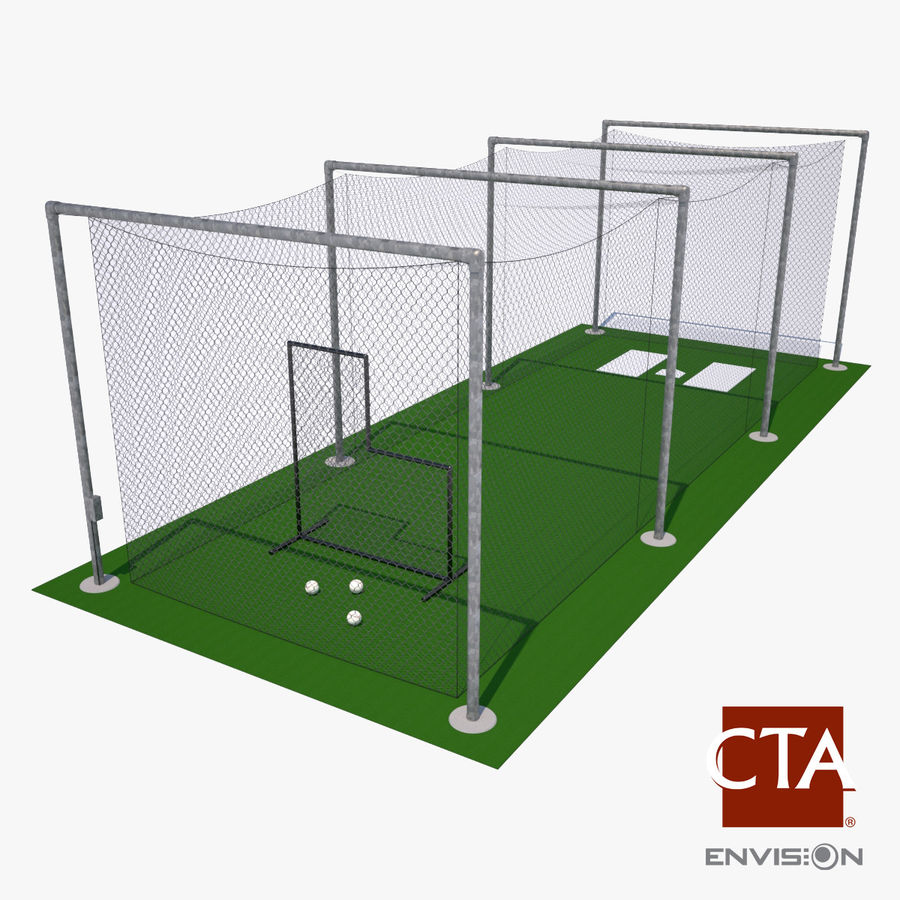 Batting Cage royalty-free 3d model - Preview no. 1