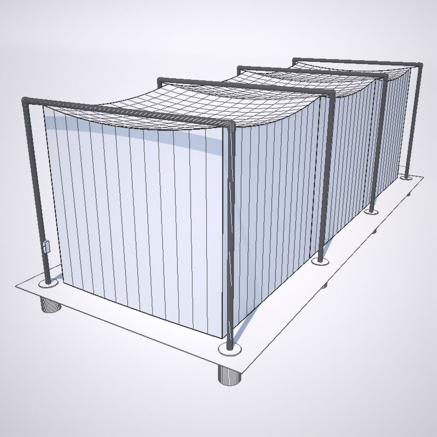 Batting Cage royalty-free 3d model - Preview no. 2