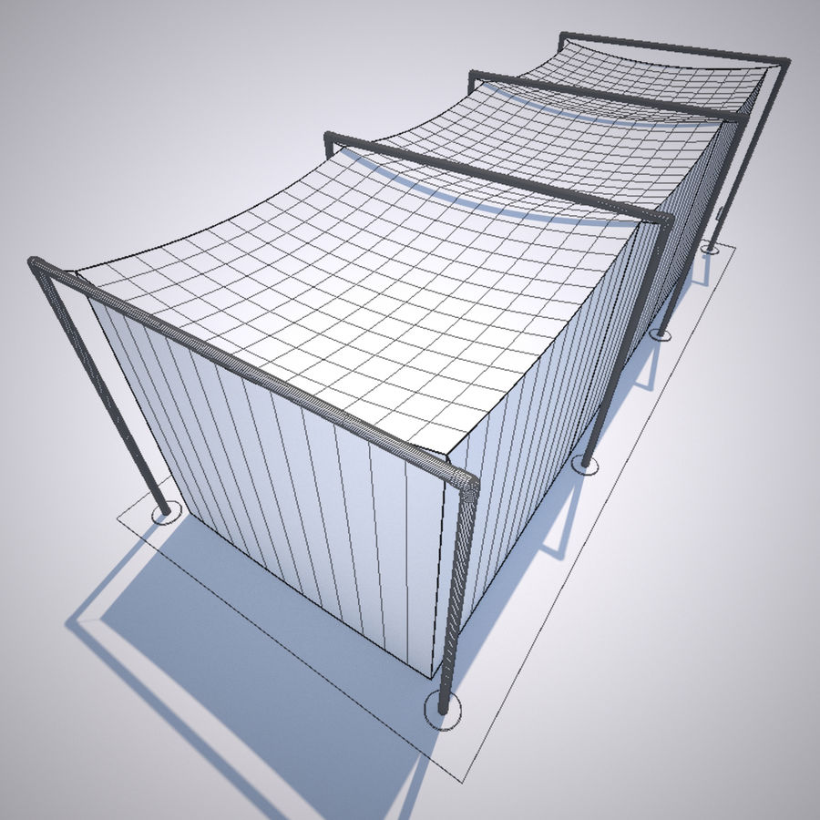 Batting Cage royalty-free 3d model - Preview no. 6