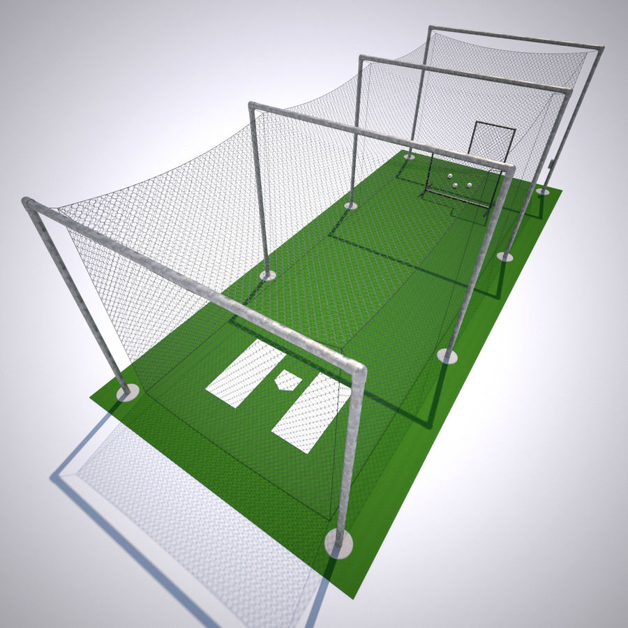 Batting Cage royalty-free 3d model - Preview no. 5