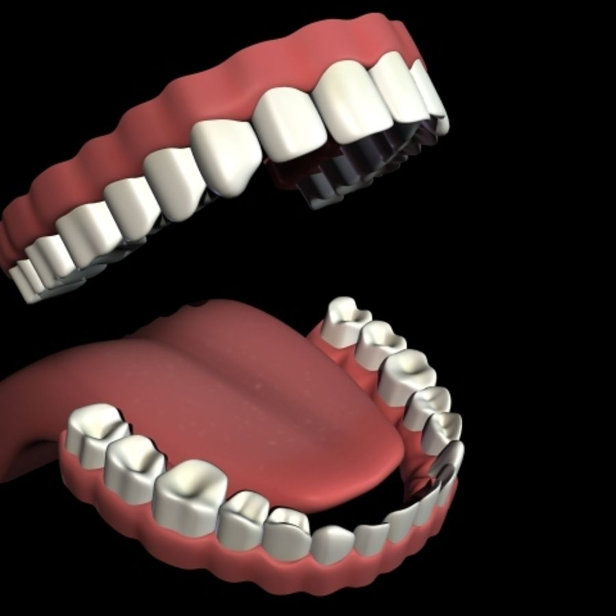 Bocca impostata royalty-free 3d model - Preview no. 1
