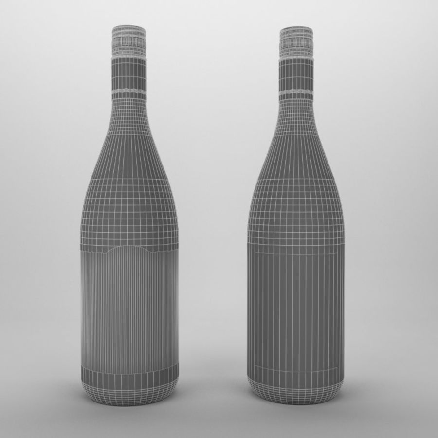 Ostra vino blanco bahía royalty-free modelo 3d - Preview no. 4