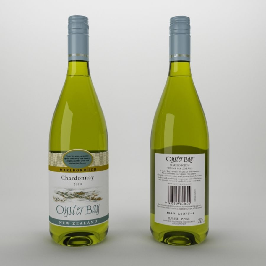 Wine oyster bay white royalty-free 3d model - Preview no. 1