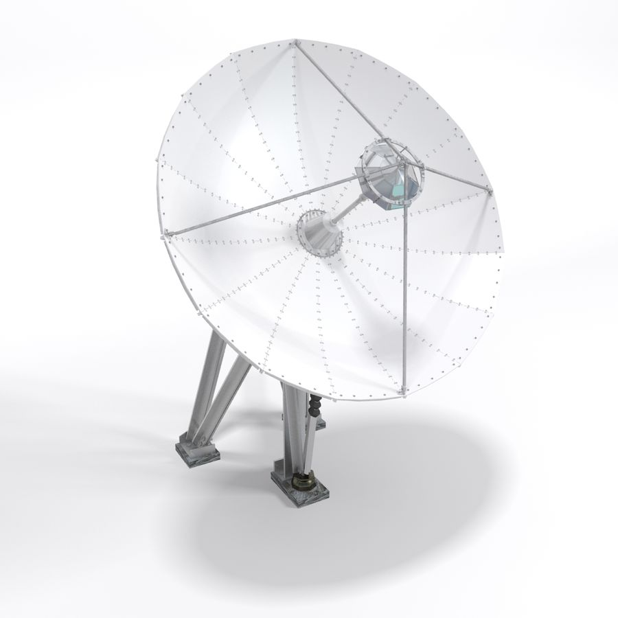 Satellite Dish royalty-free 3d model - Preview no. 7