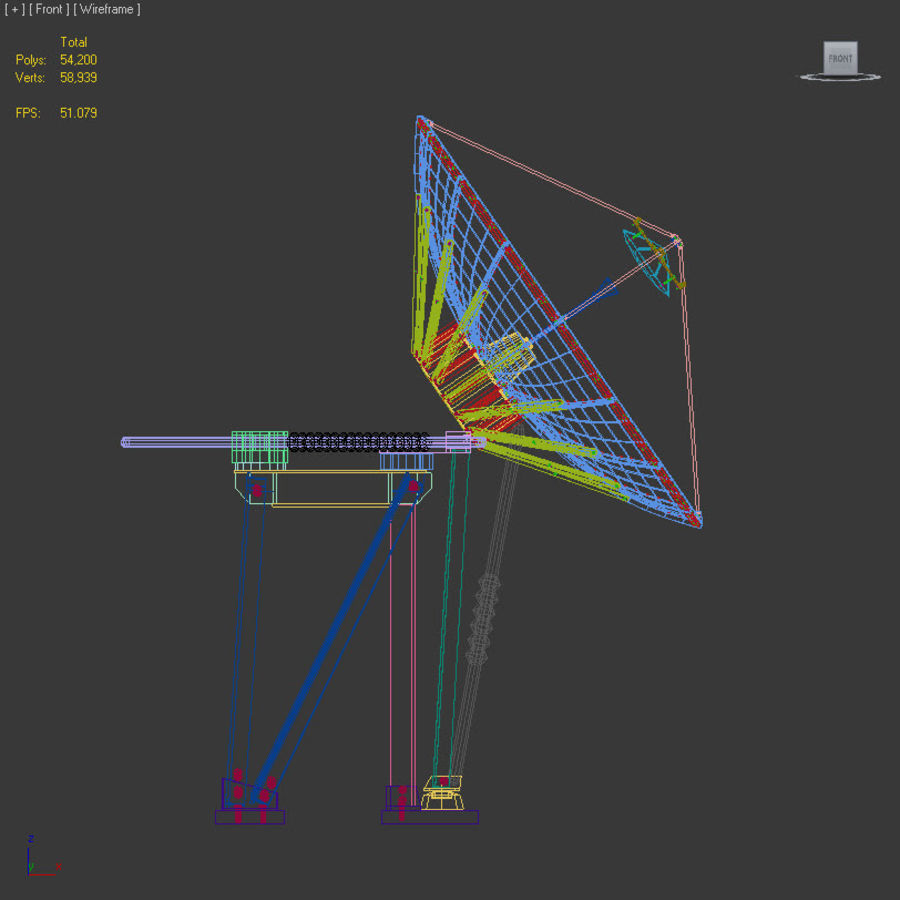 Antenna parabolica royalty-free 3d model - Preview no. 9