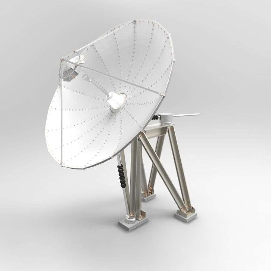 Antenna parabolica royalty-free 3d model - Preview no. 1