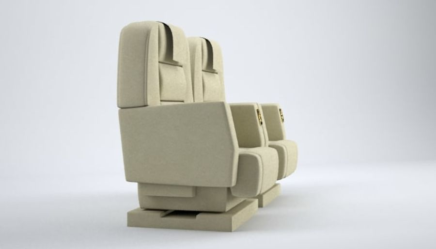 Aircraft Plane Seats royalty-free 3d model - Preview no. 8