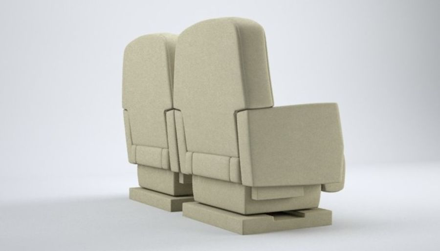 Aircraft Plane Seats royalty-free 3d model - Preview no. 7