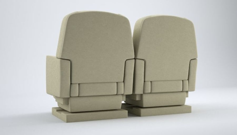 Aircraft Plane Seats royalty-free 3d model - Preview no. 5
