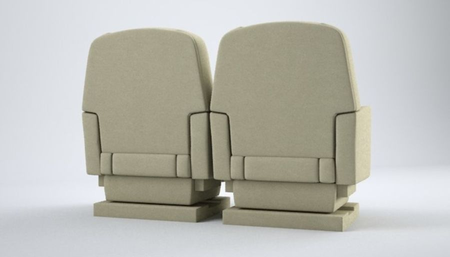 Aircraft Plane Seats royalty-free 3d model - Preview no. 6