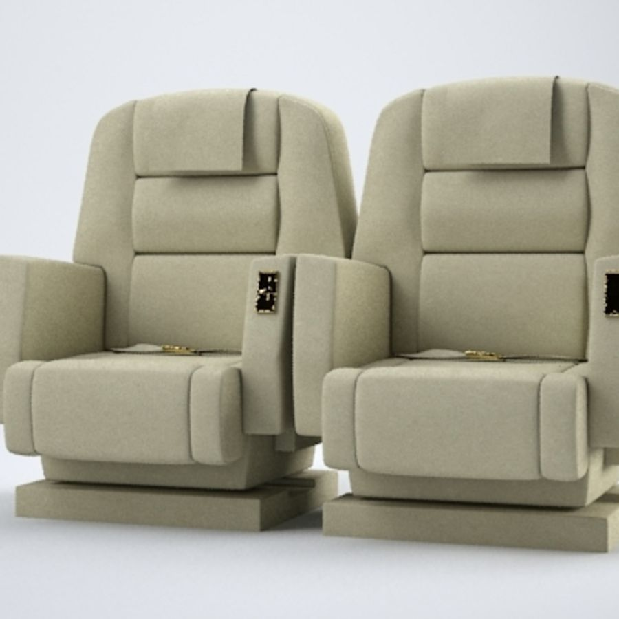 Aircraft Plane Seats royalty-free 3d model - Preview no. 2