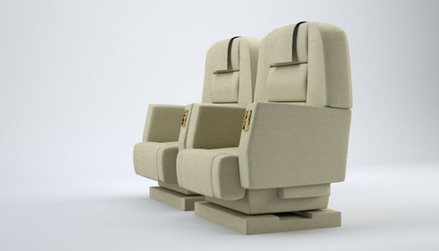 Aircraft Plane Seats royalty-free 3d model - Preview no. 3
