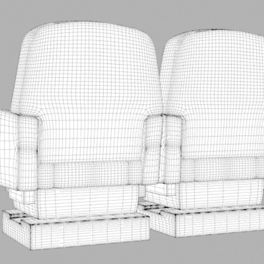 Aircraft Plane Seats royalty-free 3d model - Preview no. 14