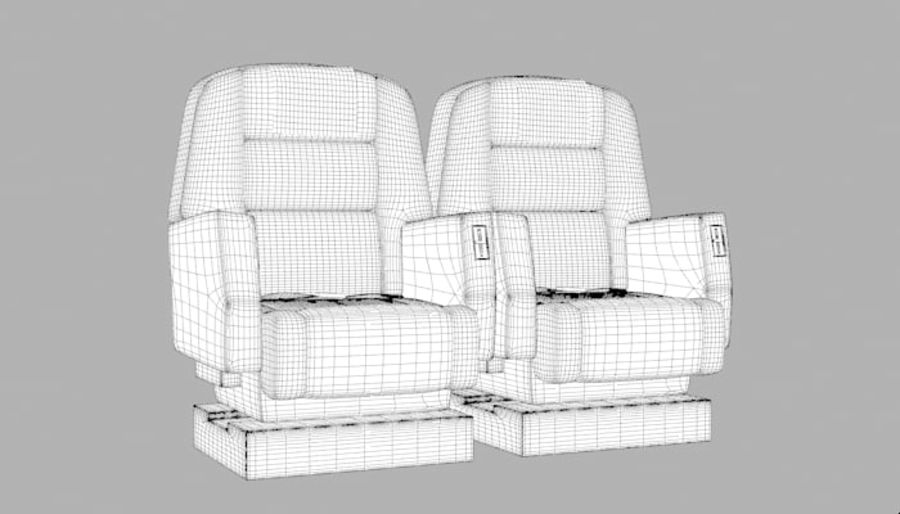 Aircraft Plane Seats royalty-free 3d model - Preview no. 10
