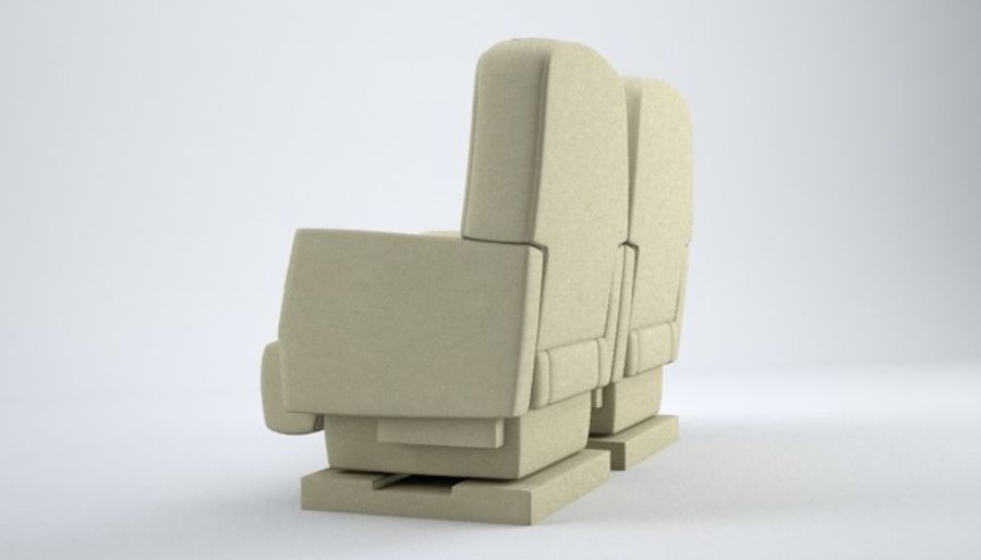 Aircraft Plane Seats royalty-free 3d model - Preview no. 4