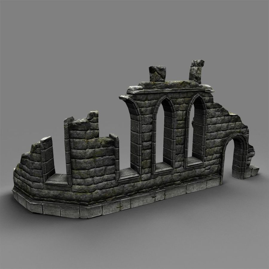 Ruin C royalty-free 3d model - Preview no. 2