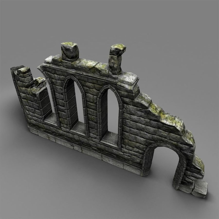 Ruin C royalty-free 3d model - Preview no. 7