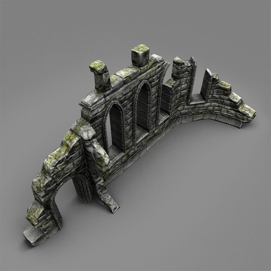 Ruin C royalty-free 3d model - Preview no. 4