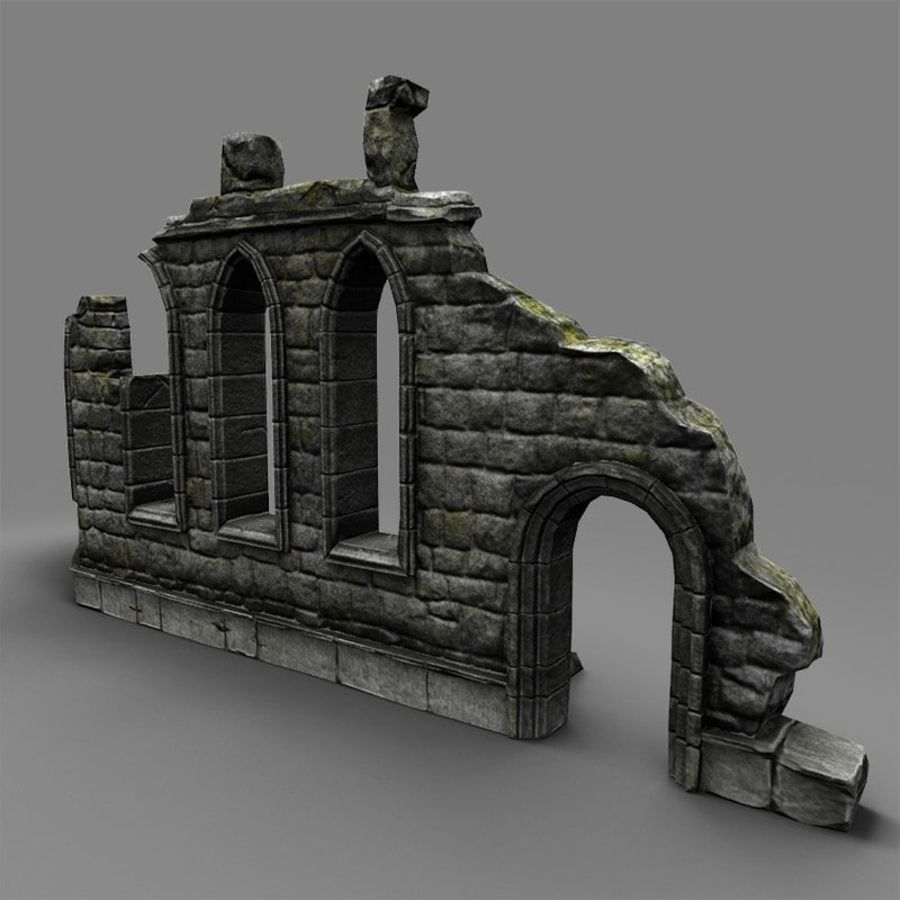 Ruin C royalty-free 3d model - Preview no. 6