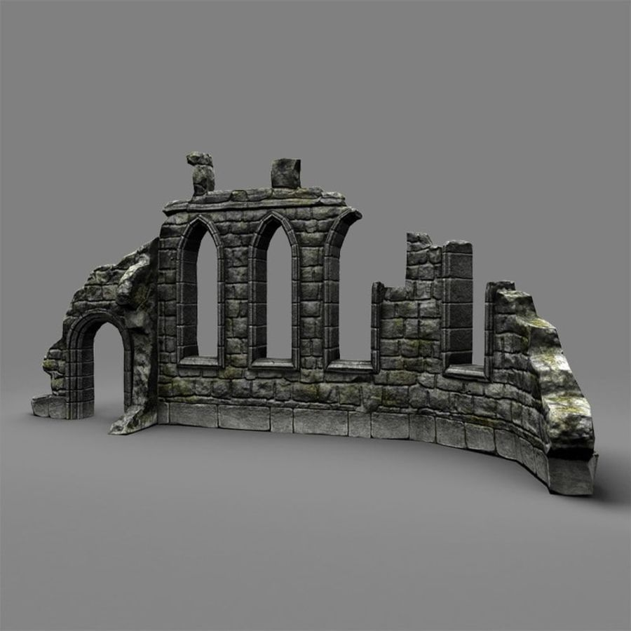 Ruin C royalty-free 3d model - Preview no. 3
