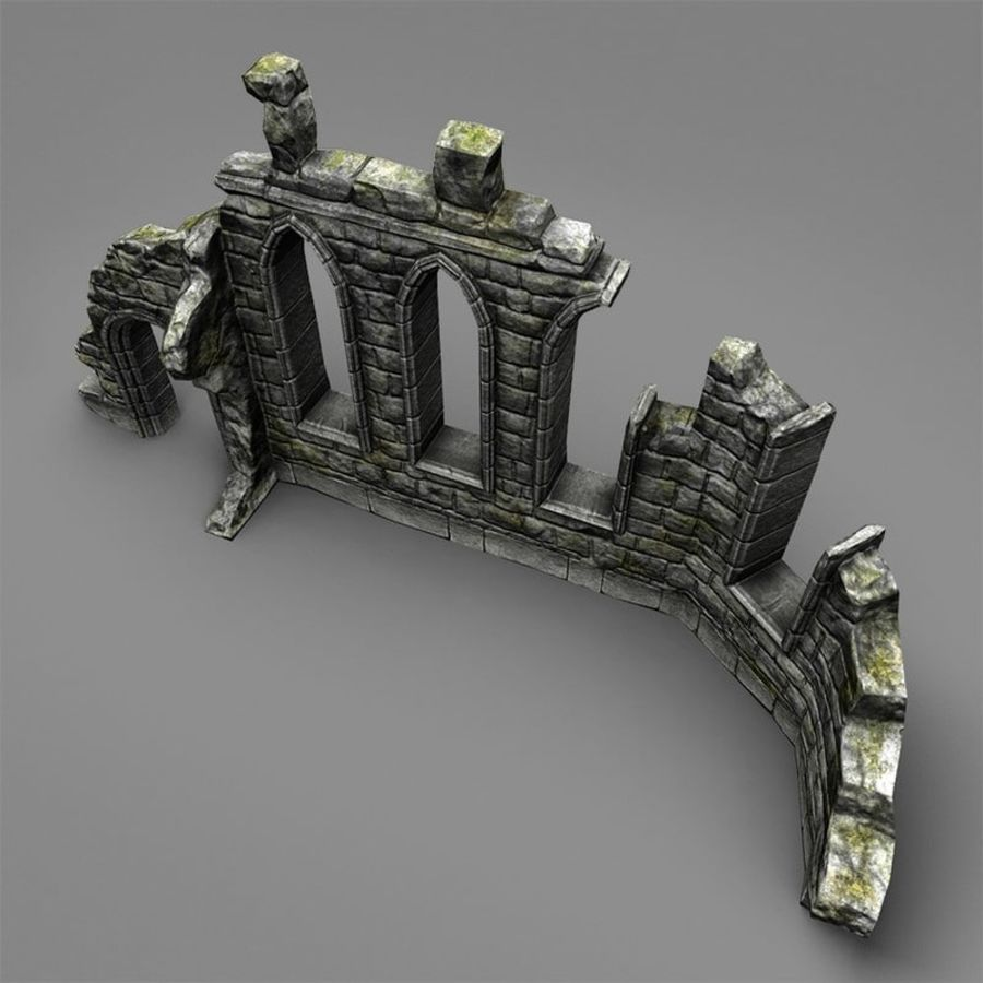 Ruin C royalty-free 3d model - Preview no. 5