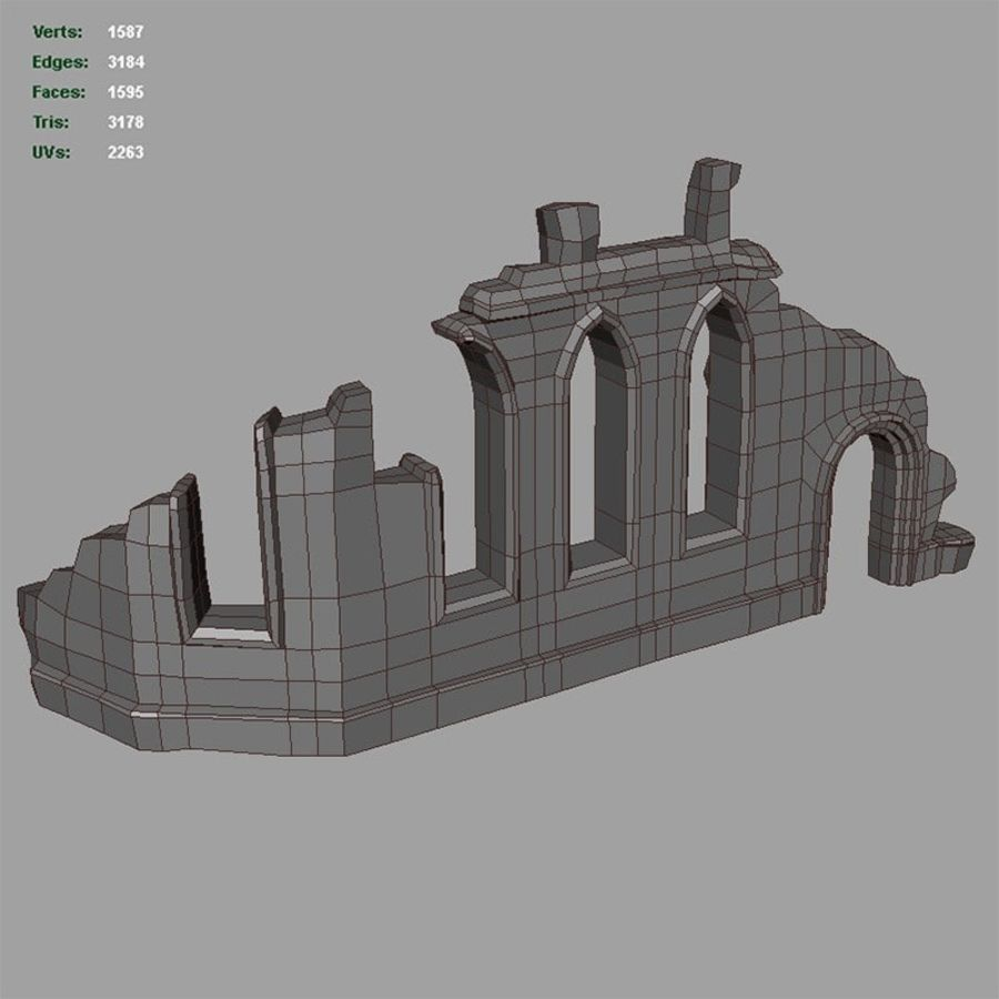 Ruin C royalty-free 3d model - Preview no. 8